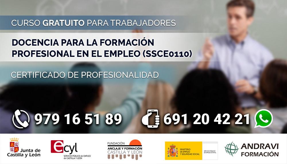 Curso en Palencia de Docencia para la formación profesional en el empleo