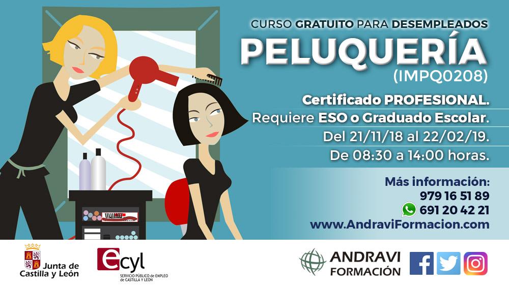 Curso de Peluquería en Palencia para desempleados
