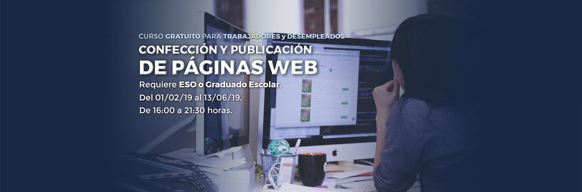 Curso de Diseño WEB en Palencia para trabajadores
