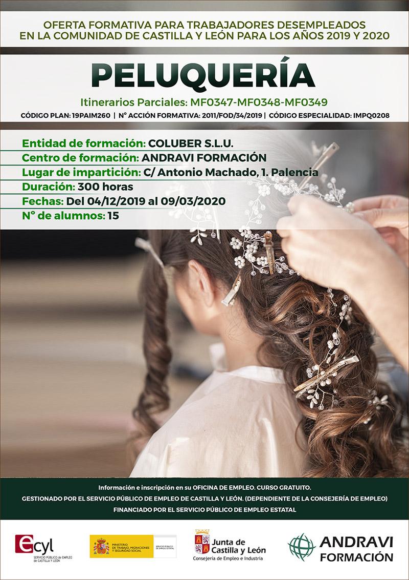 Curso de peluqueria en Palencia