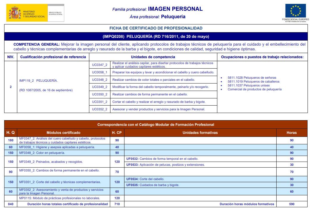 cURSO DE PELUQUERÍA EN pALENCIA